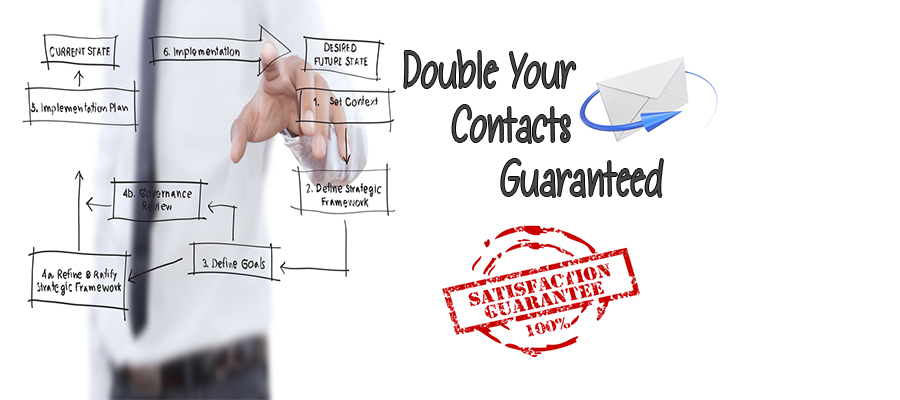 We Guarantee to At Least Double Your Internet Contacts and Keep it That Way Forever